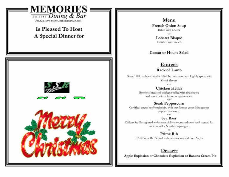 Customized catering for Stewart Southern Railing's Christmas party.